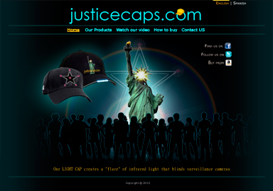 JusticeCaps website